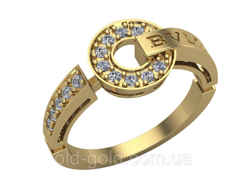 d131cd7b0cd Женское золотое кольцо Булгари