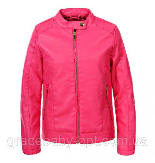 d39db6f5d035 Куртка кожзам для девочек оптом Glo-Story 134 140-170 см, № GPY-5817 ...