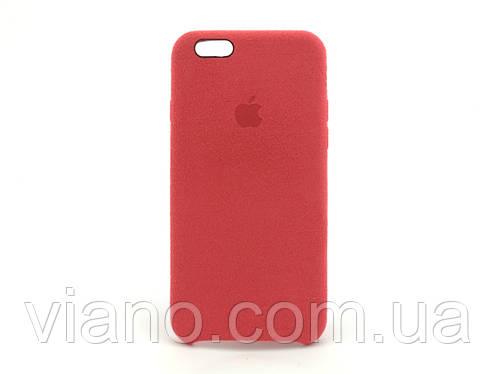 Замшевый чехол iPhone 6/6S (Красный) Alcantara case