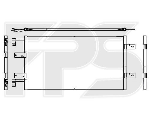 Радиатор кондиционера Renault Trafic, Opel Vivaro, Nissan Primastar (02-07) 2.5 - NRF