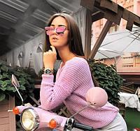 Модный вязаный женский свитер из натуральной шерсти