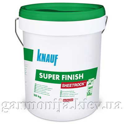 Шпаклевка KNAUF Sheetrock Super Finish акриловая, 28 кг