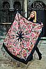 Павлопосадская бирюзовая шаль Вальс цветов, фото 3
