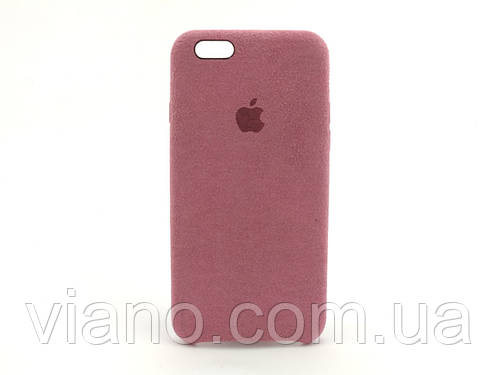 Замшевый чехол iPhone 6/6S (Бордовый) Alcantara case