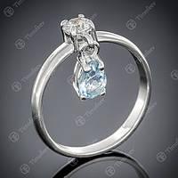 Перстень серебряный 473 (5) Rh