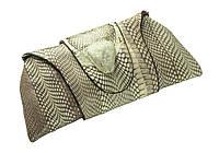 Клатч из кожи питона Бежевый (snc01), фото 1