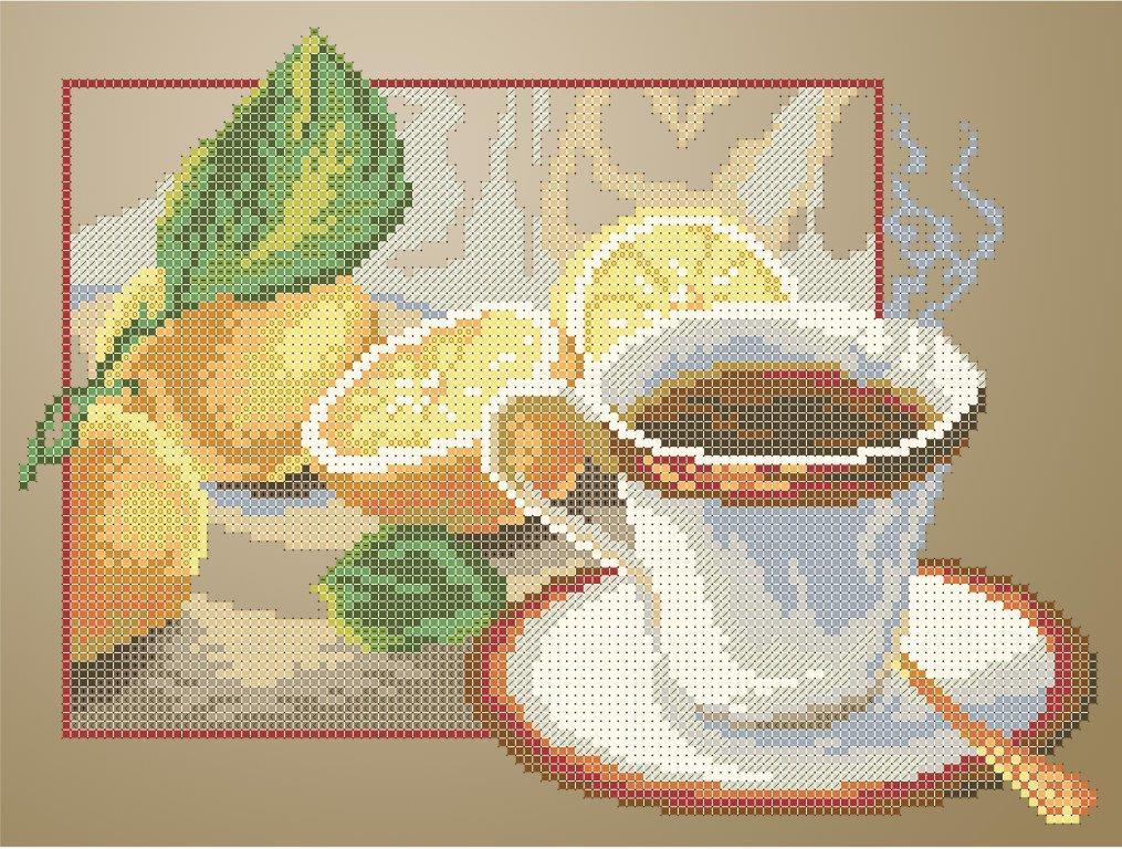 Схема для вишивки та вишивання бісером Бисерок «Чай з лимоном» (A4) 20x25 b0265db52addf