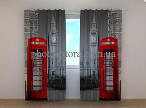 """Фото шторы """"Лондонский телефон"""" 250 х 260 см"""