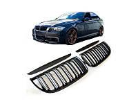 Решетка радиатора (ноздри) BMW E90/E91 дорестайл стиль M3 (черная)