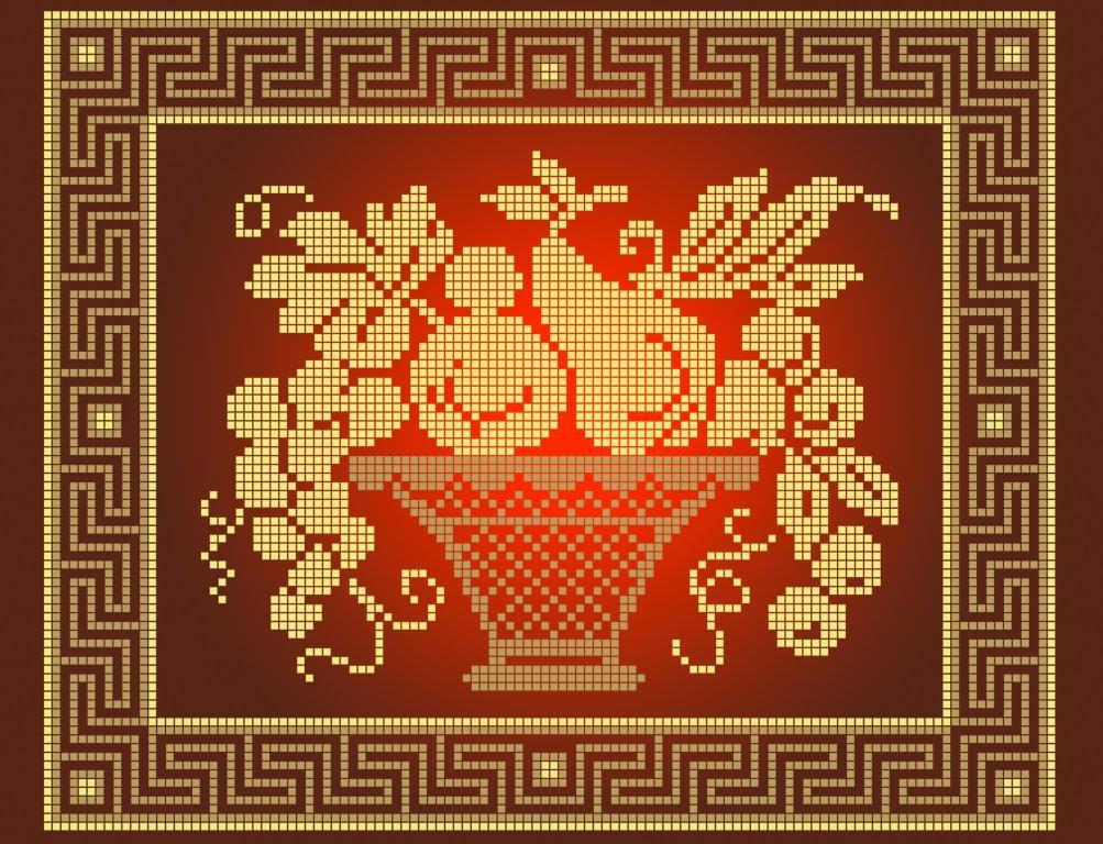 Схема для вишивки та вишивання бісером Бисерок «Натюрморт з грушею» (A4) 20x25 (ЧВ-3433 (10))