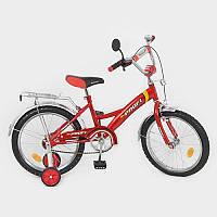 Велосипед PROFI детский 18 д. P 1831 красный, звонок,приставные колеса