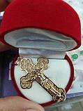 Крестик    медицинское  золото, фото 2