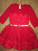 Нарядное детское платье в расцветке