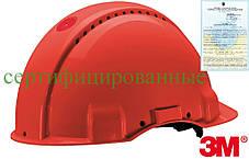 Каска будівельна захисна червона 3M-KAS-SOLARISN C