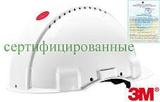 Каска будівельна захисна біла 3M-KAS-SOLARISN W