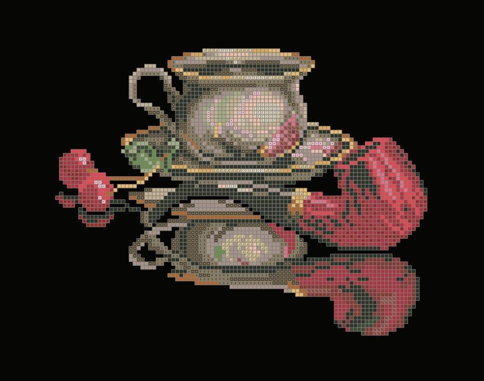 Схема для вишивки та вишивання бісером Бисерок «Кава для нього» (A4) 20x25 (ЧВ-3434 (10))