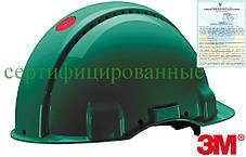 Каска будівельна захисна зелена 3M-KAS-SOLARISN Z