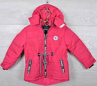 """Куртка детская демисезонная """"New Classic"""" для девочек. 2-6 лет (92-116 см рост). Малиновая. Оптом., фото 1"""