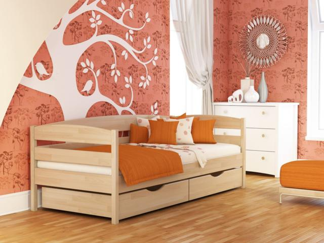 Кровать Нота Плюс №102 Бук натуральный (Бук Щит)