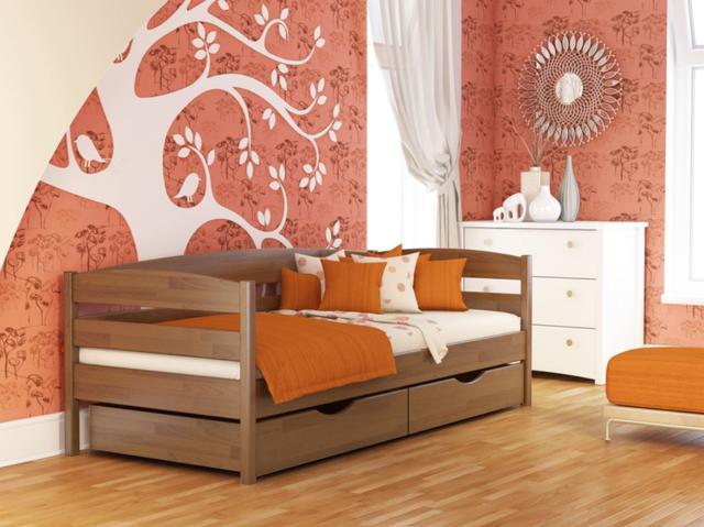 Кровать Нота Плюс №103 Светлый Орех (Бук Щит)