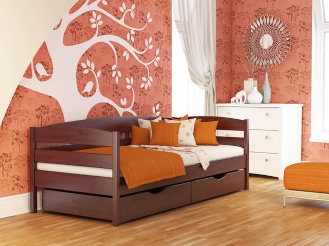 Кровать Нота Плюс №104 Красное дерево (Бук Щит)