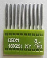 """Иглы для промышленных швейных машин """"Триумф""""DBх1 №60/8 (уп.10шт)"""