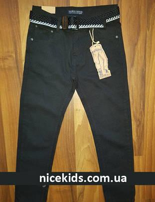 Детские школьные брюки синие 134-164р