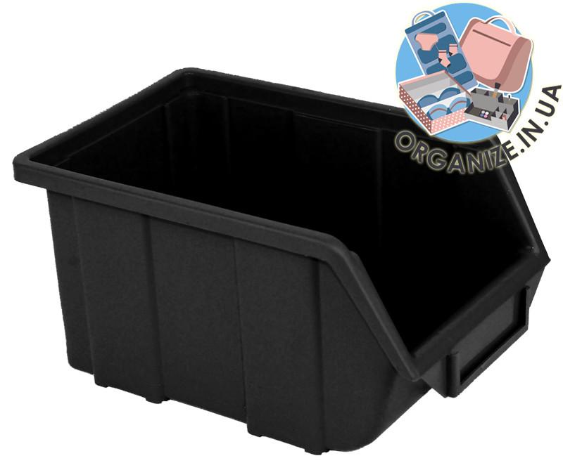 Составной органайзер-контейнер для инструментов 245х160х125 мм облегченный (черный)