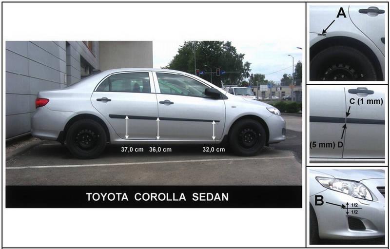F-20 Door moldings Toyota Corolla 2006-2012