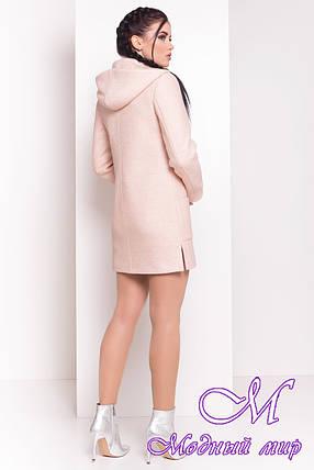 Женское бежевое демисезонное пальто (р. S, M, L) арт. Эльза 1353 - 10008, фото 2