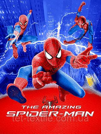 """Плед-покрывало из микрофибры """"Человек паук/Спайдермен"""" (160х210), фото 2"""