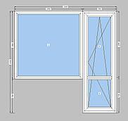Балконный блок  Openteck-однокамерный пакет,балконный блок Опентек,выход на балкон