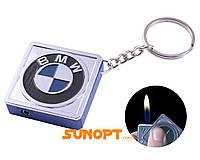 Зажигалка карманная-брелок квадрат BMW №2312-2