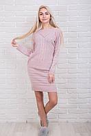 Костюм женский вязаный кофта и юбка p.44-48 AR37510-1
