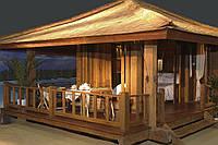 Деревянный домик для сада в стиле Шале