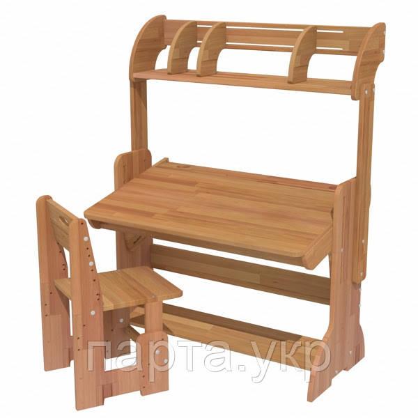 Дитяча парта і стілець з полків, 90 см