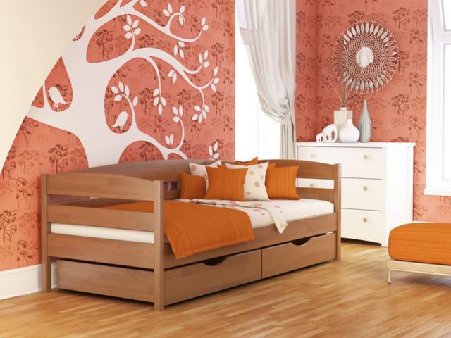 Кровать Нота Плюс №105 Ольха (Бук Щит)