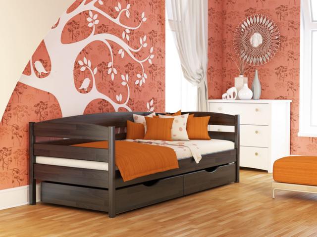 Кровать Нота Плюс №106 Венге (Бук Щит)