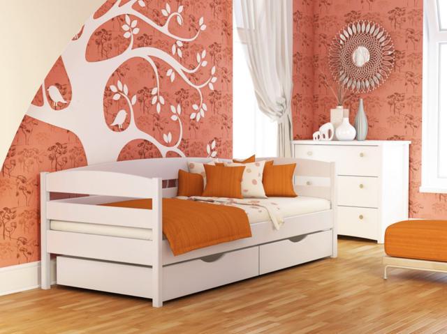 Кровать Нота Плюс №107 Белый Акрил (Бук Щит)