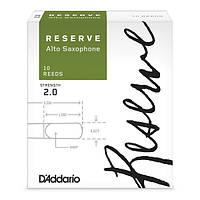 Трости для духовых D`ADDARIO Reserve - Alto Sax #2.0