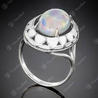 Перстень серебряный 401 Опал Им Rh