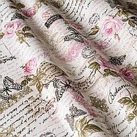 Ткань Агнешка,  розовый цветок