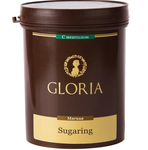 """Шугаринг .Cахарная паста для эпиляции """"Глория""""  мягкая с ментолом 0,33 кг"""