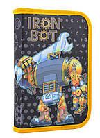 """Пенал твёрдый одинарный """"Iron bot"""" 1 Вересня Smart 531720"""