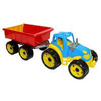 """Іграшка """"Трактор з причепом Технок"""", арт. 3442 размер 54 х 19 х 16 см"""