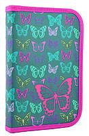 """Пенал твёрдый одинарный с клапаном """"Butterfly"""" 1 Вересня Smart 531669, фото 1"""
