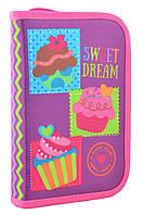 """Пенал твёрдый одинарный с клапаном """"Sweet dream"""" 1 Вересня Smart 531691"""