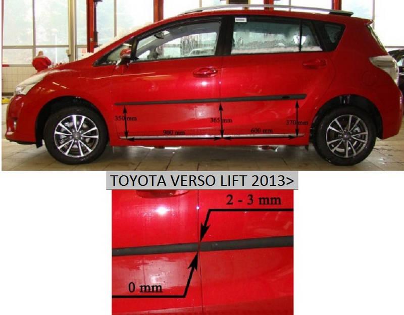F-16 Door moldings Toyota Verso lift 2013>