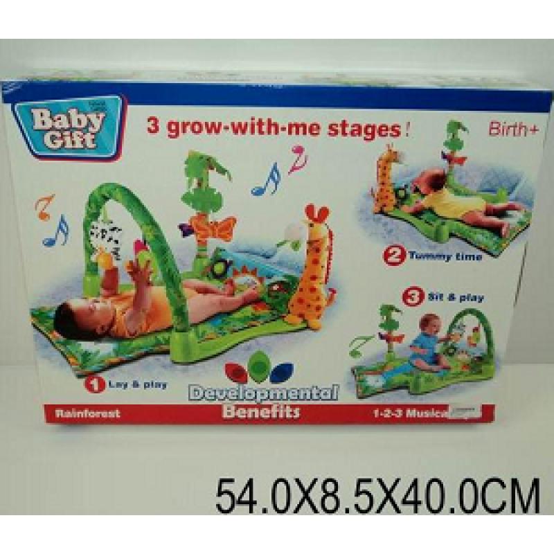 """Коврик для малышей """"Троп. лес """" 3059 (602669) (12шт) батар., муз., дуга, погрем., в кор.54*40*8, 5см - Магазин """"BINZA"""" в Броварах"""