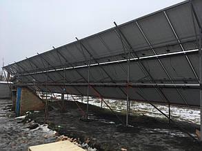 монтаж солнечных батарей на наземную конструкцию тыльная сторона поля